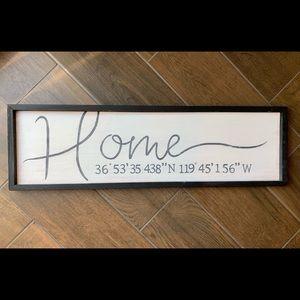 Custom Home Sign w/ GPS Coordinates